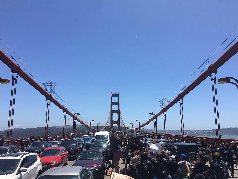 Black Lives Matter on the Golden Gate 2, Martin Haro